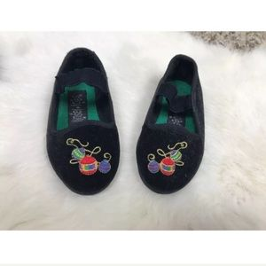Tinsel Toes Baby Girl Christmas Suede Sz 6(18/24M)